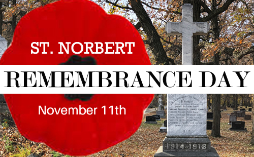 St Norbert Remembrance Day logo